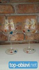 Ръчно рисувана чаша Романтика