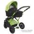 Комбинирана бебешка количка 2 в 1 TUTEK Tambero green and black със зелена рамка