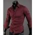 "Мъжка риза - бордо Neckline stylish размер ""M"""